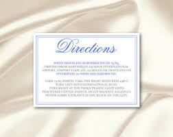 direction card etsy Wedding Invitation Direction Inserts direction cards template, diy royal blue silver calligraphy wedding enclosure card, invitation inserts, wedding invitation direction inserts template