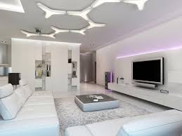 ultra modern living room. Stunning Ultra Modern Home Design In Living Room With Lighting Ceiling Also Tv Wall Mounted R