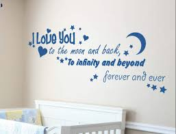 i love you to the moon wall decal sticker