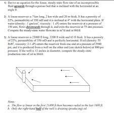 1 derive an equation for the linear steady state flow rate of an