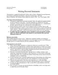 Graduate School Personal Statement Essay Sample Www