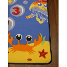 non slip kids under the sea hopscotch large play mat rug 100cm x 200cm hours of
