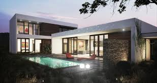 Small Picture one story modern house plan wf2studio modern plan collection