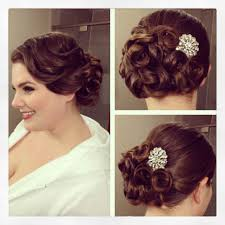Wedding Hair Style Up Do vintage side updo vintage hairstyle pin curls bridal hair 3032 by wearticles.com