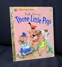 walt disney s little golden 3 little pigs book