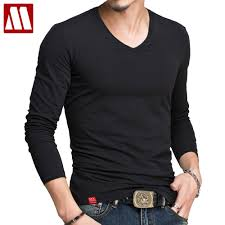 <b>Hot Sale Classic Men</b> Long Sleeve T Shirt Fitness V Neck T Shirts ...