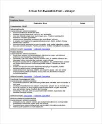 Self-Evaluation Form Templates