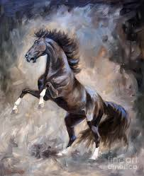 horse painting wild thing by jeanne newton schoborg