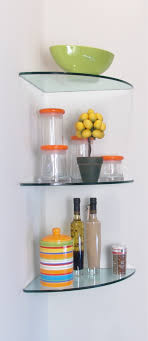 Glass Corner Shelves Uk Shelves Superb Black Glass Wall Shelves Vonhaus Adjustable 84