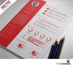 Clean And Professional Resume Free Psd Template Psdfreebies Com