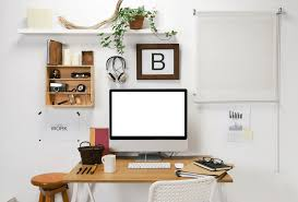 Inspiration office furniture Ideas Home Office Inspiration Office Desk With Hanging Shelf Plant Headphones And White Desk Ideas Seven Inspiring Reasons For Having Dedicated Home Office Healthy