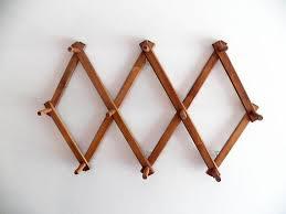 Magnuson Group Coat Rack Vintage Wood Hat Rack Accordion Long Peg Folding Coat Rack With 66