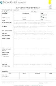Step By Step Instruction Template Step By Step Document Template Qoopon Co