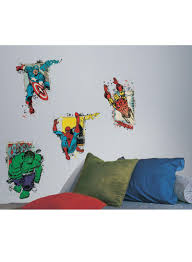 marvel super hero burst l and stick giant wall decals multicolour