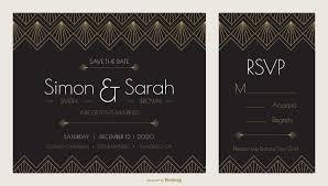 wedding book cover template art deco wedding invitation design vector template download free