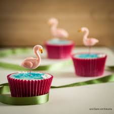 Cupcake Decorating Flamingo Cupcakes 100 Days Of Evelyn
