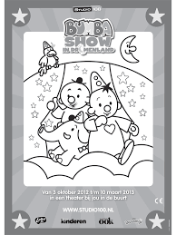 Kleurplaat Bumba Show Kleurplatennl