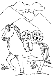 Small Picture Dog Horse Coloring Pages Coloring Pages