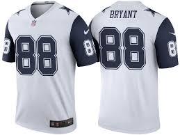 White Jersey Dallas Bryant Color Legend Rush Dez Cowboys
