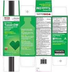 Cvs Pharmacy Inc Tussin Dm Drug Facts