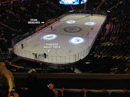 in seat view from section 419 at madison square garden
