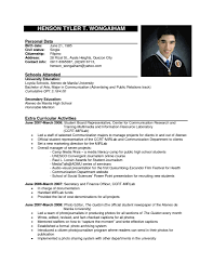Resume Sample In Word Format Curriculum Vitae Samples For Job Application And Resume Sample 21