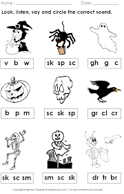 Free Halloween Phonics Worksheet | kiddyhouse.com/Themes/halloween ...