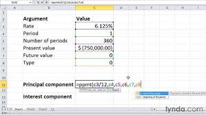 Principal Payment Calculation Ppmt And Ipmt Calculating Principal And Interest Per Loan