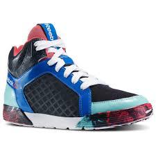 reebok dance shoes. reebok les mills dance urtempo mid 2.0 faux indigo/blazing pink/crystal blue - mens shoes no.13628 d