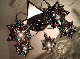 br48 antique styl jeweled moroccan star light fixture chandelier