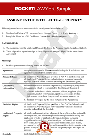 Commercial Lease Agreement Sample Simple Assignment Of Intellectual Property Template Assign Intellectual