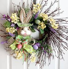 Exra large Easter Wreath, Spring Wreaths, Easter Decoration, Front door  Wreaths, Bunny