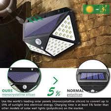 <b>4pcs 100 LED</b> 114 <b>LED Solar</b> Light <b>Outdoor</b> Waterproof 4 side <b>Solar</b> ...