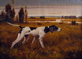 hunting dog oil painting 07