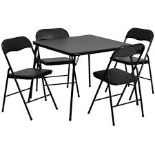 kitchen dining tables. Flash Furniture 5 Piece Black Folding Card Table And Chair Set Kitchen Dining Tables T