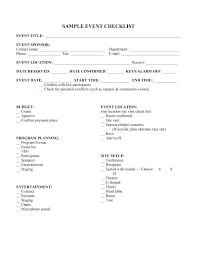 Sample Church Budget Spreadsheet And Event Planning Checklist Form ...