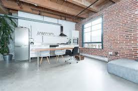 polished concrete floor loft. An Industrial Aesthetic Polished Concrete Floor Loft