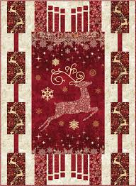 Dazzle Christmas panel quilt pattern with three border designs by ... & Dazzle Christmas panel quilt pattern with three border designs by Quilts by  Jen Adamdwight.com