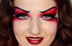 julia graf wearing red devil halloween makeup