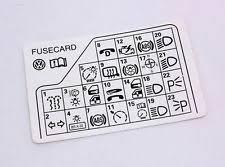 fuse diagram vw fuse diagram key card 98 05 vw passat b5 genuine 3b0 010 241