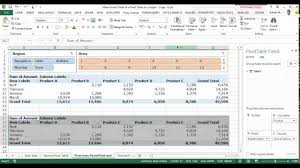 Display Data From The Grand Total Column Of A Pivot Table On