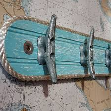 Boat Cleat Coat Rack Wall Hook Rack Galvanized Boat Cleats from HarborsideCollecti 29