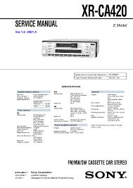 sony cdx x wiring diagram wiring diagram and schematic sony cdx m610 ver 1 0 sm service manual schematics