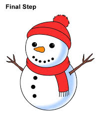 A cute snowman drawing doesn't have to be small and flat. How To Draw A Snowman
