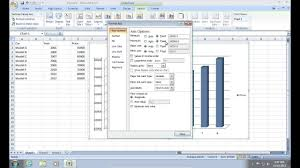 How To Draw A Column Chart In Excel 2007 How To Change Excel 2007 Chart Scale