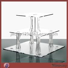 Acrylic Tiered Display Stands Thickening 100Tier Square Transparent Acrylic Cupcake Display Stand 77