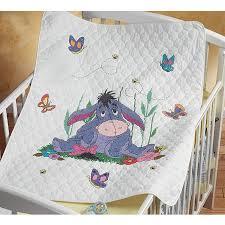 Eeyore and Butterflies Baby Quilt Stamped Cross Stitch Kit ... & Eeyore and Butterflies Baby Quilt Stamped Cross Stitch Kit Adamdwight.com