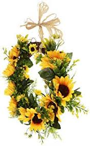 Image Decorating Ideas Fityle Realistic Simulation Rattan Sunflower Wreath Door Flower Wreath For Wedding Party Home Decor Amazoncom Amazoncom Yellow Wreaths Home Décor Accents Home Kitchen