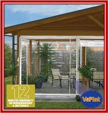 180 x 240 white bistro cafe blind pvc patio backyard outdoor verandah cover