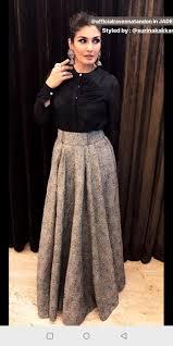 Skirt N Top Designs Skirt N Crop Top Long Skirt Outfits Skirt Fashion Fashion